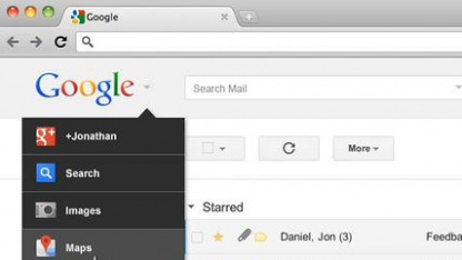 Google-Startseite: Drop-down-Menü ersetzt horizontales Menü.