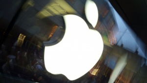 Logo am Apple Store in München