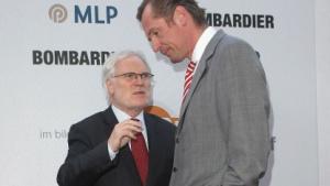Markus Schächter (l.) mit Axel-Springer-Chef Mathias Döpfner im Jahr 2008
