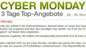 Cyber Monday 2011: Amazon.de macht trotz Vorwürfen zu Lockvogelwerbung weiter