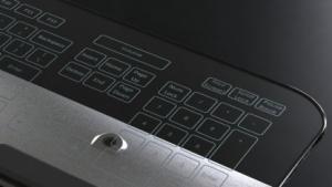 Die Glastastatur kommt ohne bewegliche Teile aus.