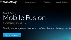 RIM hat Blackberry Mobile Fusion vorgestellt.