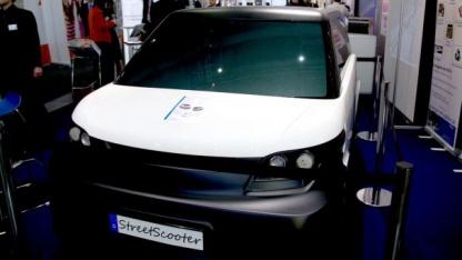 Das Elektroauto Streetscooter auf der Hannover Messe