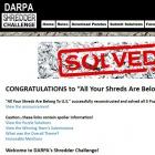 Shredder Challenge: US-Team löst Puzzlewettbewerb der Darpa