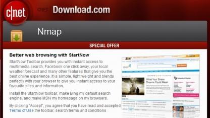 Screenshot des Download.com-Installers für Nmap