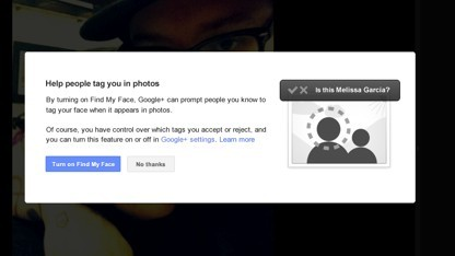 Find My Face in Google+