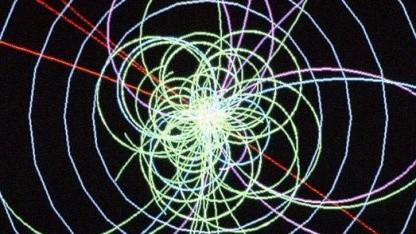 Simuliertes Higgs-Ereignis: fehlendes Puzzleteil