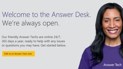 Answerdesk wird 24 Stunden pro Tag angeboten.
