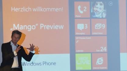 Vorstellung von Windows Phone 7.5 im Mai 2011