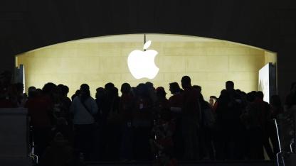 Kunden im Apple Store in New York