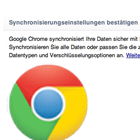 Synchronisation: Chrome 16 in der Cloud