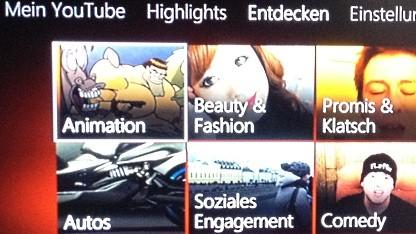 Youtube auf der Xbox 360
