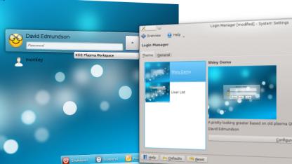 In LightDM lassen sich Plasma Widgets nutzen.