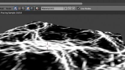 In Blender 2.6.1 können Wellen und Schaumkronen simuliert werden.