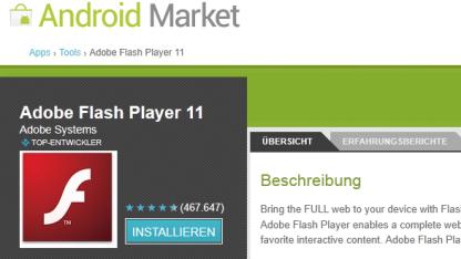 Flash Player für Android 4.0 ist da.