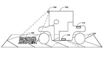 Landingstrip: Instruktionen für das autonome Auto auf der Straße