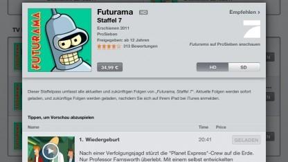 Der deutsche iTunes rechnet die Einzelkäufe noch nicht an.