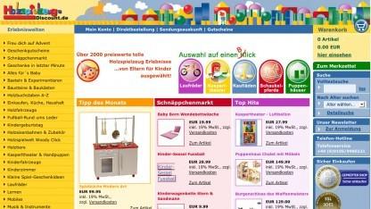 Holzspielzeug-Discount.de soll zahlen oder in der Bedeutungslosigkeit verschwinden.