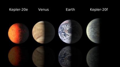 Neu entdeckte Exoplaneten im Vergleich: Kepler 20e und Kepler 20f