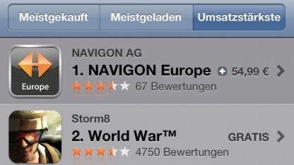 Der iTunes App Store - das Freemium-Geschäftsmodell hat sich etabliert.