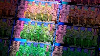 Wafer mit Sandy-Bridge-CPUs