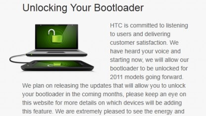 HTCs Bootloader-Entsperrer
