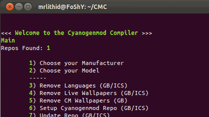 Cyanogenmod Compiler