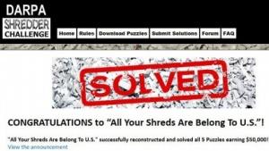 Darpa Shredder Challenge: 10.000 Schnipsel