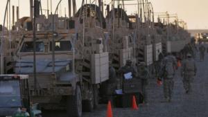US-Militärfahrzeuge wie hier beim Abzug aus dem Irak im Dezember 2011 könnten künftig nach Open-Source-Methoden entwickelt werden.