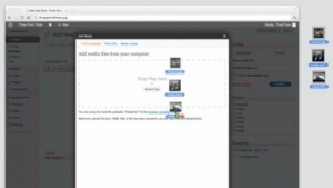 Wordpress 3.3 unterstützt Drag-and-Drop.