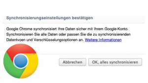 Synchronisation: Chrome 16 in der Cloud