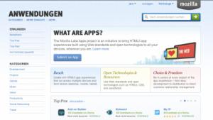 Mozilla Marketplace öffnet für alle Entwickler.