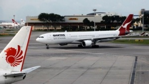 Airbus A330 von Qantas auf dem Flughafen von Singapur (2011)