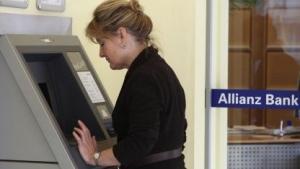 Geldautomat im März 2010 in Berlin