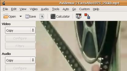 Avidemux nutzt die aktuelle Version des Codierers x264.