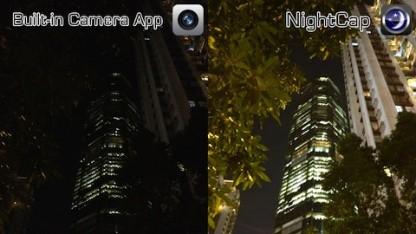 Nightcap ermöglicht lange Belichtungszeiten.