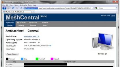 Meshcentral verwaltet Rechner.