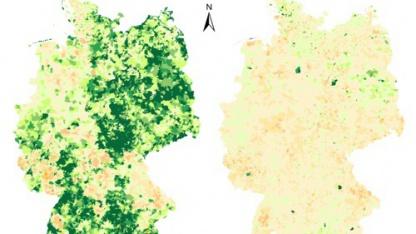 Gesamtverlgleich links, Straßennetz für Autonavigation rechts