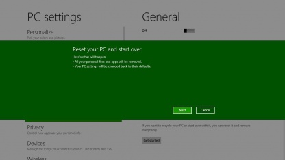 Refresh und Reset in Windows 8