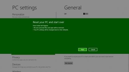 Refresh und Reset in Windows 8