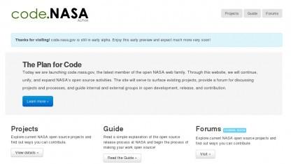 Auf code.nasa.gov soll an freier Software der Nasa mitgearbeitet werden können.