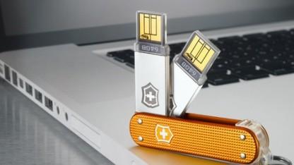 Schweizer Taschenmesser können bald  1 TByte Daten speichern.