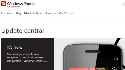 Microsofts künftige Seite für Windows-Phone-Updates