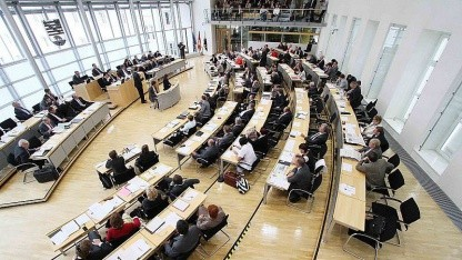 Landtagssitzung im Plenarsaal von Sachsen-Anhalt