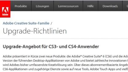 Sonderaktion für CS3- und CS4-Nutzer