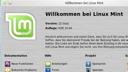 Linux Mint 12 mit KDE SC 4.7.4