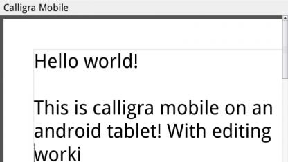 Die freie Bürosoftware Calligra ist auf Android portiert worden.