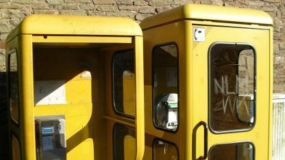 Telefonzelle im Jahr 2005