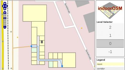 Openstreetmap-Daten sind auch von Innenräumen möglich.