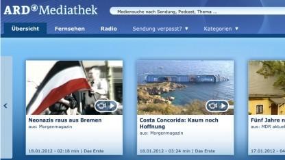 Die ARD-Mediathek bleibt Browsern und HbbTV-Endgeräten vorbehalten.